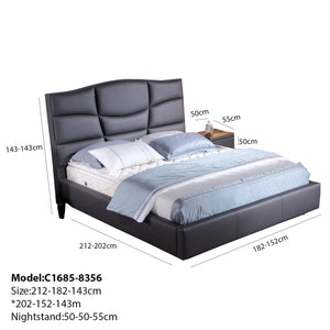 Posture Loft Tufted Upholstered Platform Bed