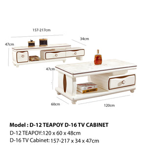 Aero I Teapoy and TV Cabinet