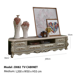 Champagne Silver Tv Stand