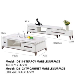 Premium Teapoy and TV cabinet