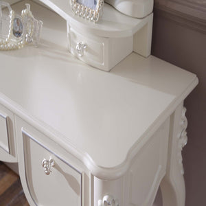 White Antique French Dresser Table IV