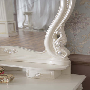 White Antique French Dresser Table III