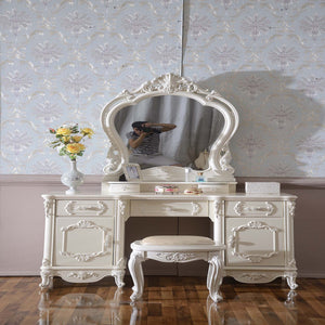 White Antique French Dresser Table VI