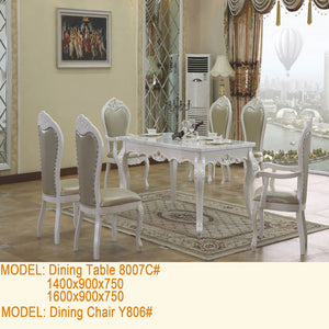 White Royal Style Dining Set