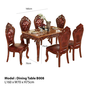 Gorgeous Brown Royal Style Dining set