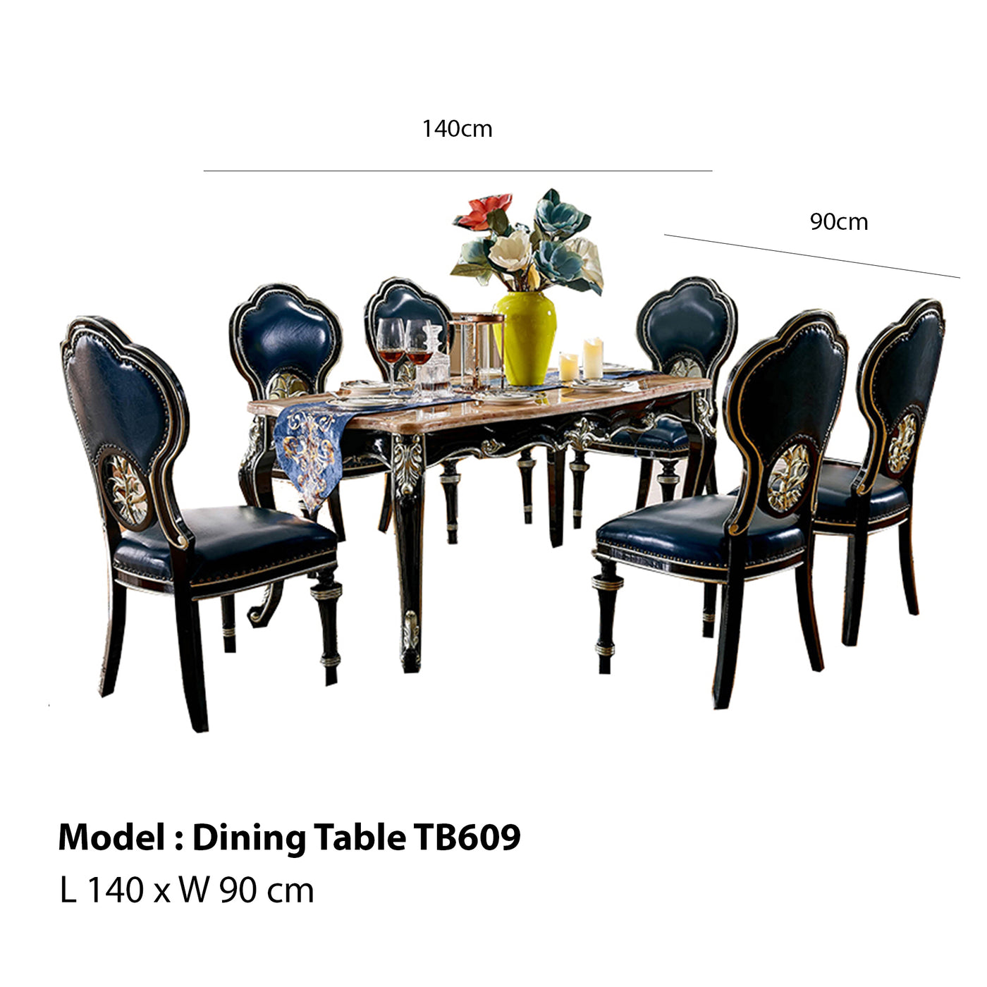 Incredible Poppy Expandable Royal Style Dining Set Dailytribune Chair Design For Home Dailytribuneorg