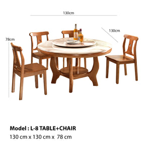Bruno Circle Dining Table set