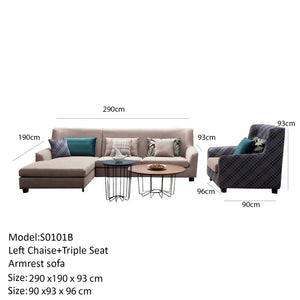 Prime Hampton Triple Seat Right Chaise Sofa 1 Seat Check Design Armrest Caraccident5 Cool Chair Designs And Ideas Caraccident5Info