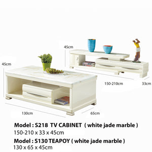 Gloss Cream IV Teapoy and Tv Cabinet
