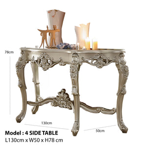 Champagne Silver Accent Side Table