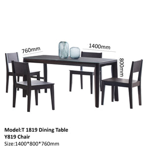 Leroy Black Matte Dining Set