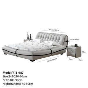 Clower Upholstered Leather Platform Bed