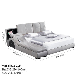 Saintly White Upholstered Bed With Sofa
