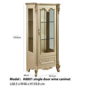 Single Door Wine Cabinet