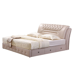 Allegany Tufted Upholstered Sleigh Bed - Best Wish Shopping
