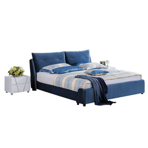Alpine Tufted Upholstered Platform Bed with Nightstand - Best Wish Shopping