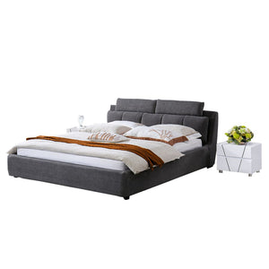 Amherst Upholstered Platform Bed with Nightstand - Best Wish Shopping