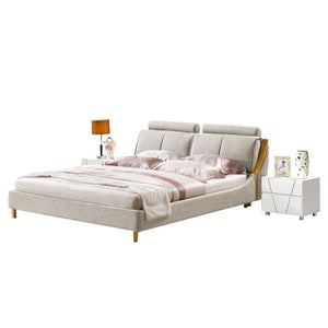 Amini Upholstered Platform Bed with Nightstand - Best Wish Shopping