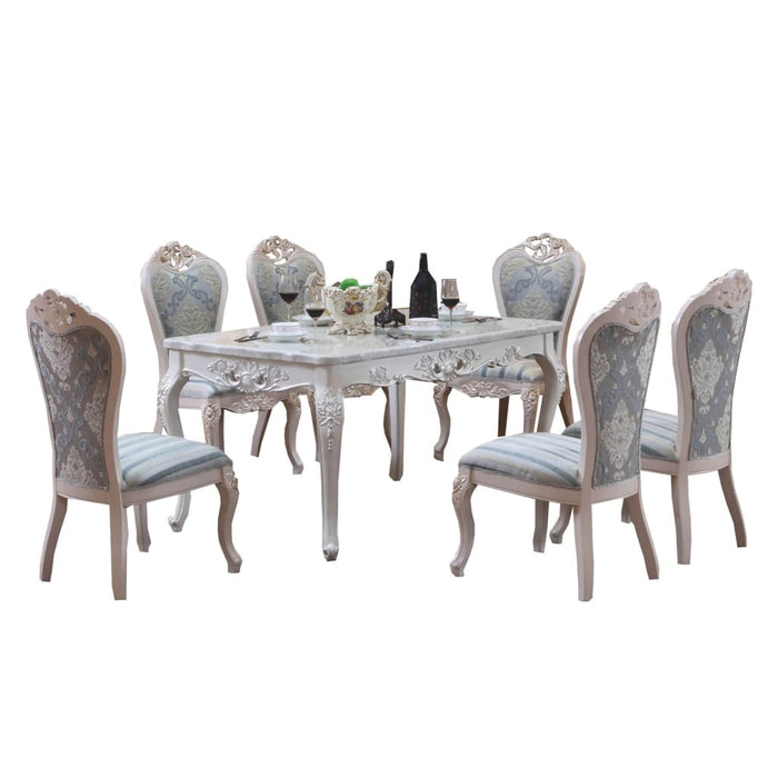 Antique White Royal Style Dining Set