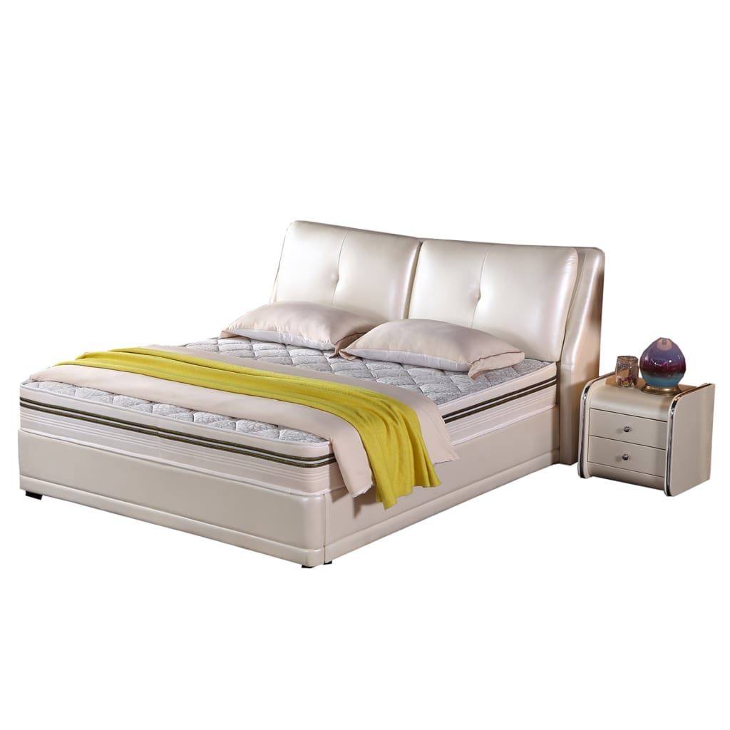 Arno Upholstered Platform Leather Bed - Best Wish Shopping
