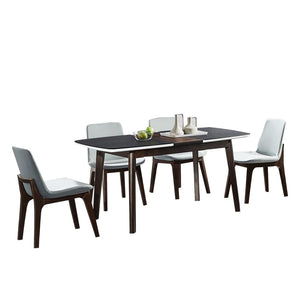 Attractive Matte Black Glass Dining Table - Best Wish Shopping