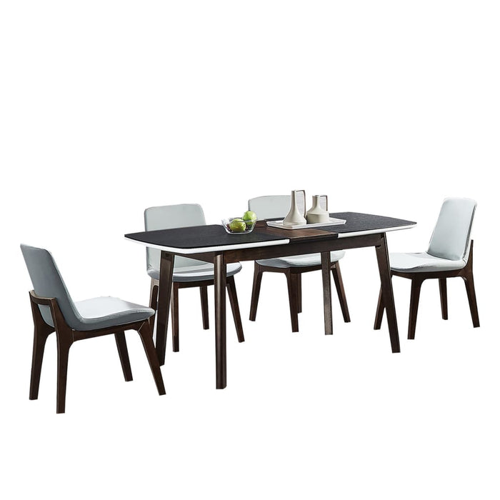 Attractive Matte Black Glass Dining Set