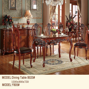 Bank Extending Royal Style Dining Table - Dining Table
