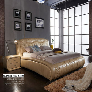 Basleey Upholstered Leather Bed for Personalized Sleep - Best Wish Shopping