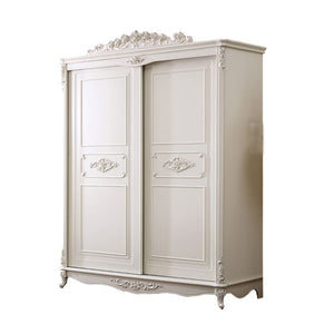 Beautiful Shabby Chic pure white Wardrobe (Brody Hash) - Best Wish Shopping