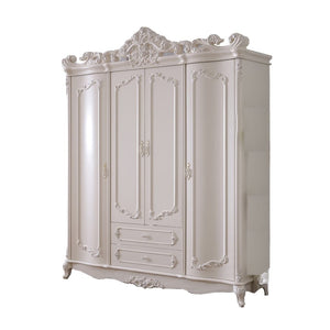 Beautiful Shabby Chic pure white Wardrobe - Best Wish Shopping