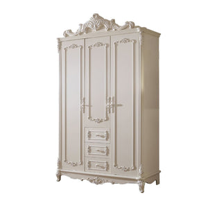 Beautiful Shabby Chic pure white Wardrobe (Golden Tulip) - Best Wish Shopping
