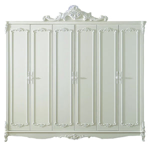 Beautiful Shabby Chic  Pure white Wardrobe (Heaver Snow) - Best Wish Shopping