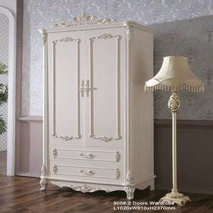 Beautiful Shabby Chic pure white Wardrobe II - Best Wish Shopping