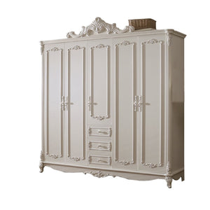 Beautiful Shabby Chic pure white Wardrobe III - Best Wish Shopping