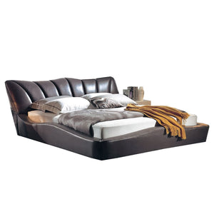 Black Leather Platform Bed - Best Wish Shopping