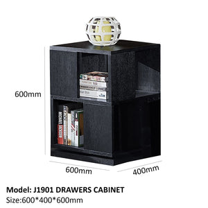 Black Matte 2drawer Cabinet - Best Wish Shopping