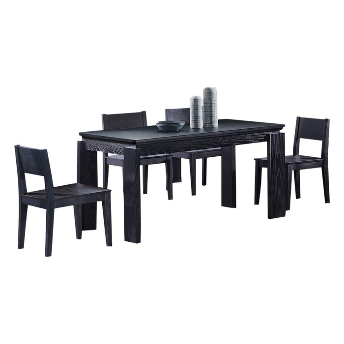 Black Matte Dining Set
