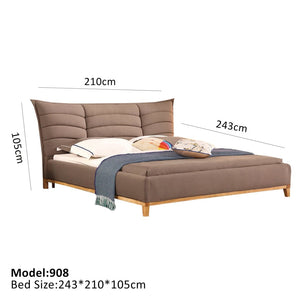 Brown European Style Bed - Best Wish Shopping