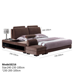 Brown Upholstered king-size Bed and Sofa. - Best Wish Shopping