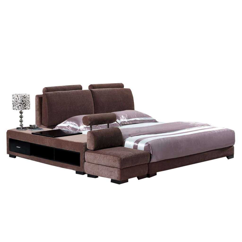Brown Upholstered King Size Bed And Sofa Best Wish Best Wish Shopping