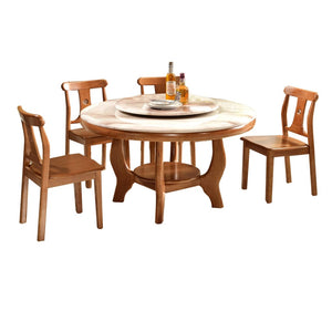 Bruno Circle Dining Table set - Dining Table