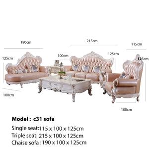 Pink King Sofa Set