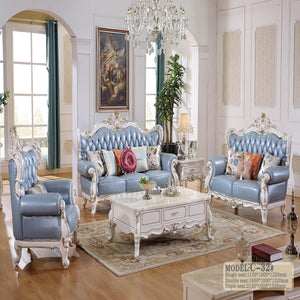 Blue King Style Sofa Set