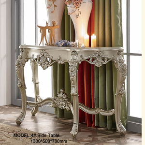 Champagne Silver Accent Side Table - Best Wish Shopping