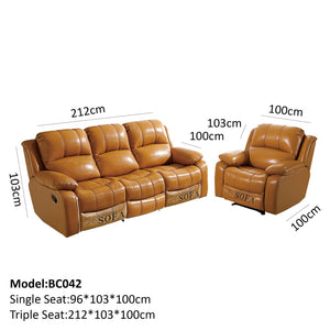 Charles Functional sofa set with reclining features