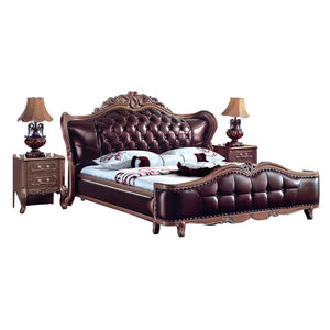 Chocolate Imperial Prince Tufted Bed - Best Wish Shopping