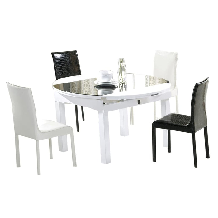 Classic Black and White Dining Table Set