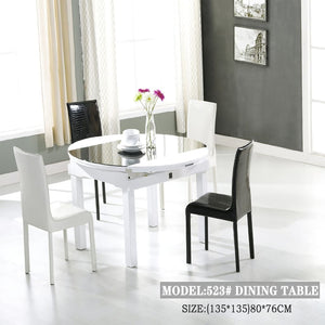Classic Black and White Dining Table - Best Wish Shopping