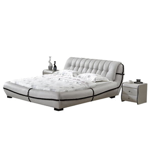 Clower Upholstered Leather Platform Bed - Best Wish Shopping