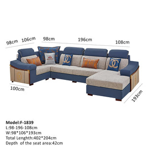 Comfortable Sectional Sofa with Durable Design - Best Wish Shopping